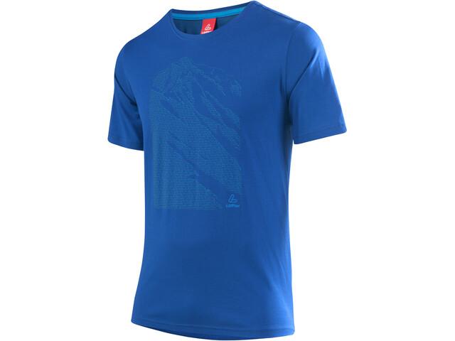 Löffler Transtex Single CF Camiseta con estampado Hombre, curacao